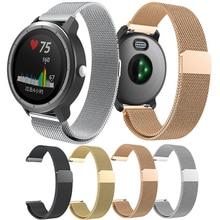 Elegant watch strap Milanese Loop Bracelet For Garmin Vivoactive 3 / Vivomove HR Music Replacement Band Watchband