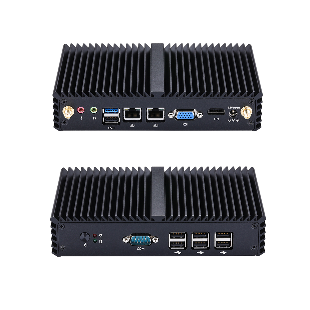 Free Shipping Intel Celeron J1900 Quad Core 2.0GHz Fanless Mini PC Windows 10 Linux Barebone Mini Desktop Pc Industrial Mini PC