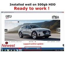 2021 última versión E T/ K 8 2 Soporte de actualización en línea coches V/A/ G vehículos del grupo electrónico catálogo de piezas de instalar en el disco duro de 500gb