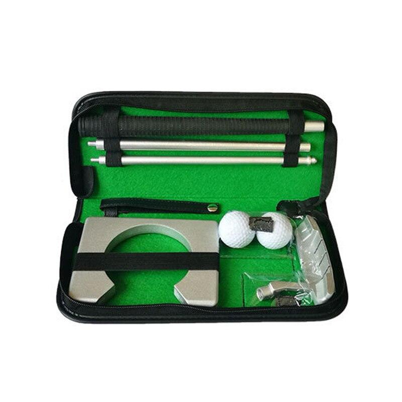 Golf Putter Putting Trainer Set Aluminum Alloy Rubber PVC Portable Golfs Ball Holder Training Aids Tool Accessories