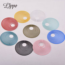 30pcs AB1835 44mm Filigree Big Round Charms Earring Pendant Diy Jewelry Necklace(China)