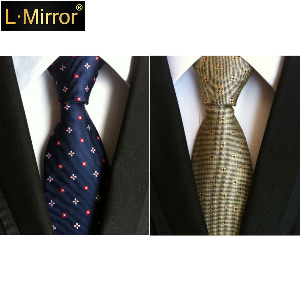 L.Mirror 1Pcs Men Skinny Neckties Fashion Business Ties Textured Style Gifts For Men Mens Ties