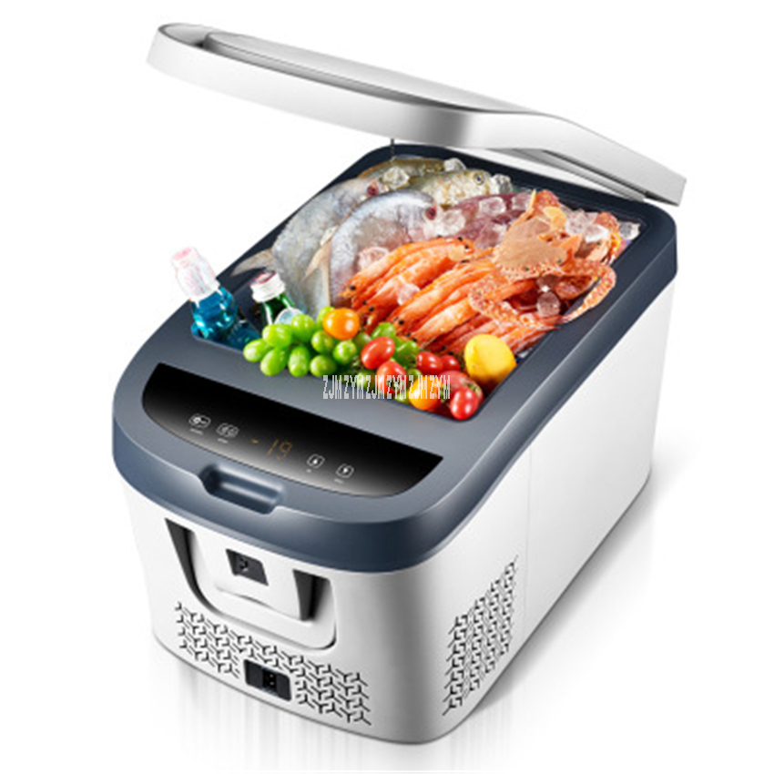 28L/38L Dual Purpose Household Vehicle Mini Single Door Refrigerator Compressor Car Fridge Touch Screen Temperature Control