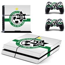 Наклейка на кожу Маккаби Haifa FC PS4, Виниловая наклейка для консоли Playstation 4 и 2 контроллера, наклейка на PS4