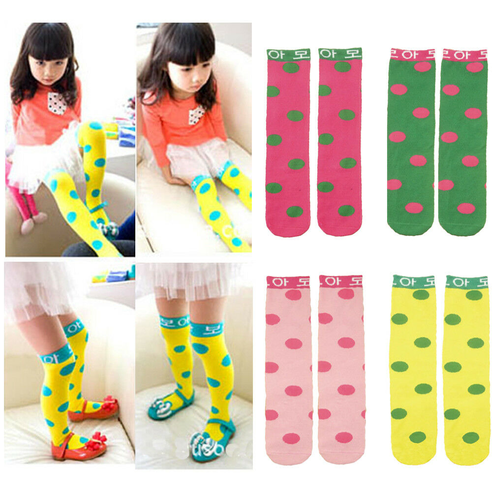 Fashion Baby Girl Toddler Kid Child Polka Dots Long Socks Tights Stockings NEW WATXW0018