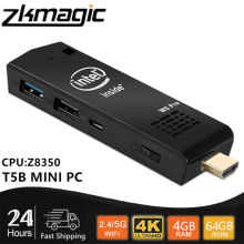 T5 Pro Intel Z8350 MINI PC Windows 10 4K BT4.0 HD HTPC 2.4G/5G double WiFi USB 3.0 poche PC Micro bâton WIFI ordinateur bâton PC