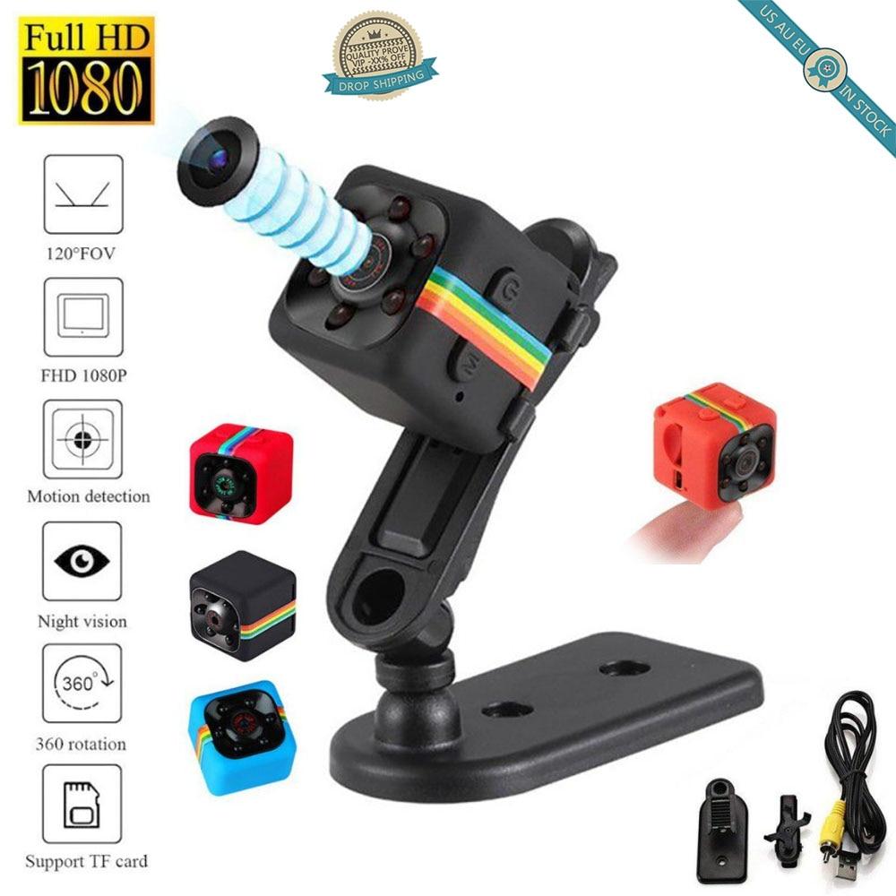 HD 1080P SQ11 Mini Car DVR Infrared Videos Camera Night Vision Camcorder Recorder Sport Digital Camera Support TF Card DV Camera