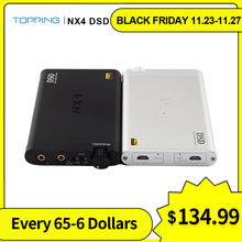 Topping NX4 DSD portable amp dac ES9038Q2M XMOS XU208 headphone amp dac usb DSD512 decording HiFi Headphone Amp