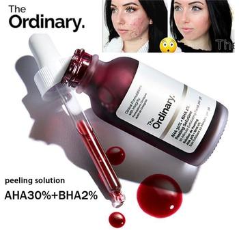 Face Makeup The Ordinary Peeling Solution 30ml AHA 30% + BHA 2% Acne Removing Serum Repair Hyaluronic Acid Face Skin Care 30ml 1