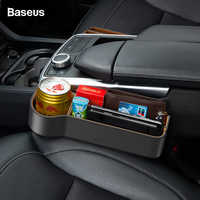 Baseus Car Seat Gap Organizer Leather Large Capacity Auto Storage Box Pocket Holder For Phone Airpods Organizer in the Car
