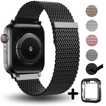цена на For Apple Watch series 5 4 3 2 1 bracelet strap 40mm 44mm Milanese loop band 38mm 42mm Stainless Steel Watchband for iwatch