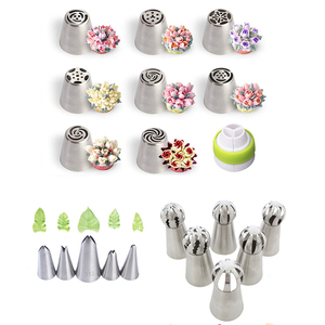 Tulip Pastry Nozzles Set Kit for Cream Stainless Steel Russian Artistic Icing Piping Tips Cake Decorating Confectionery Tool(China)