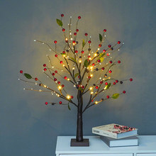 Night Light Led Fairy Lights Battery Powered Bedroom Decoration Bedside Lamp Garland Light for Home Christmas Creative Ornaments