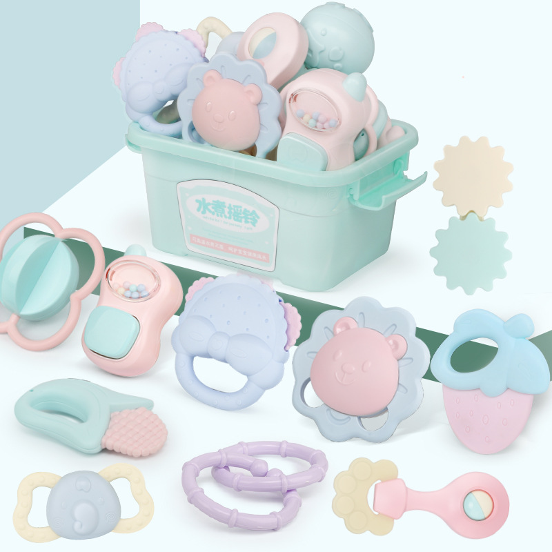 Boiled Rattle Combo Baby Toys 3-6-12 Month 8 Educational Small GIRL'S And BOY'S Early Childhood Baby 0-1-Year-Old