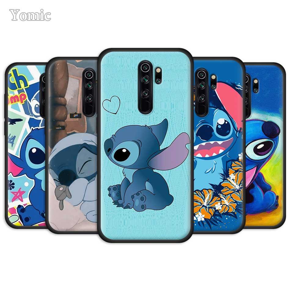 Artoon Lilo Stich Ohana Case For Xiaomi Redmi Note 8 8T 9S 9 10X 4G K20 K30 Pro K30i 5G 6 7 8A Black Silicone Phone Cover Coque
