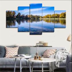 Laiyan текстильная мебель безрамные пейзажи декоративная живопись воздушная матовая живопись для украшения гостиной офиса 5-frame P