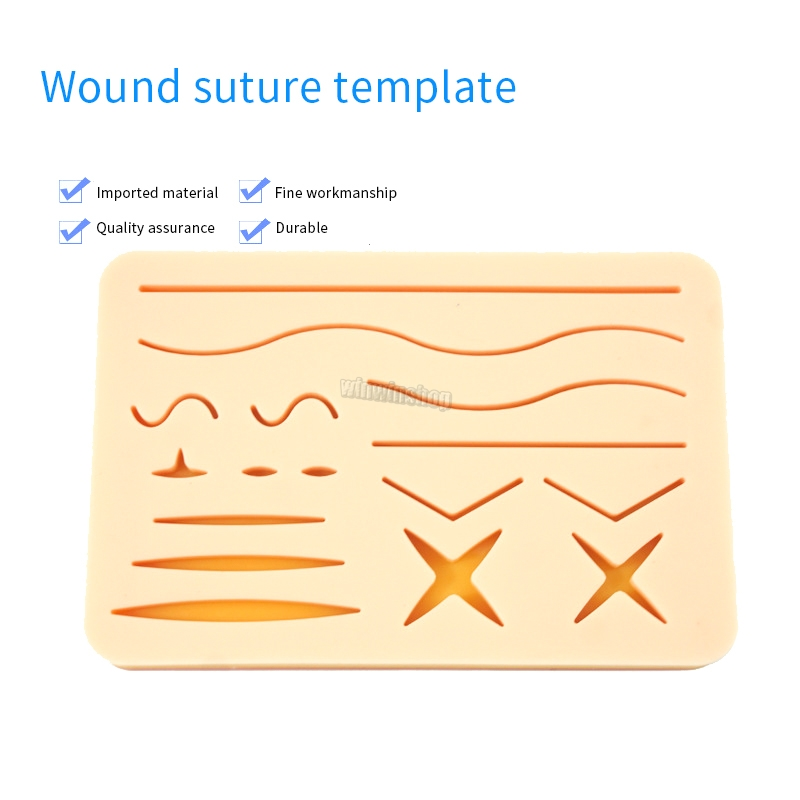 1 PCS Skin Wound Suture Medical Silicone Pad For Wound Surgery Training Kit