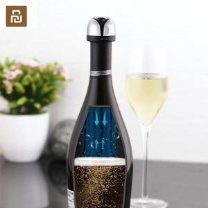 Image 1 - New 2019 Youpin Champagne Sparkling Wine Stopper Stainless Steel Wine Stopper Party Corks chain brand Circle Joy