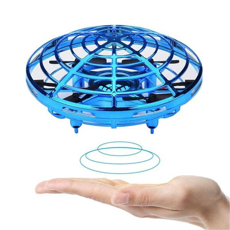 Boys and Girls Gift 3 Years and Older Blue AllSeasons Boys Toys Kids Flying Drones Mini Hand Controlled Flying Ball Drone with 2 Speed and LED Light for Kids