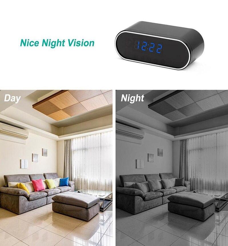 alarm clock HD Clock WiFi Camera Mini IP home security Camcorder P2P Night Vision Alarm Motion Remote CCTV Camera (4)