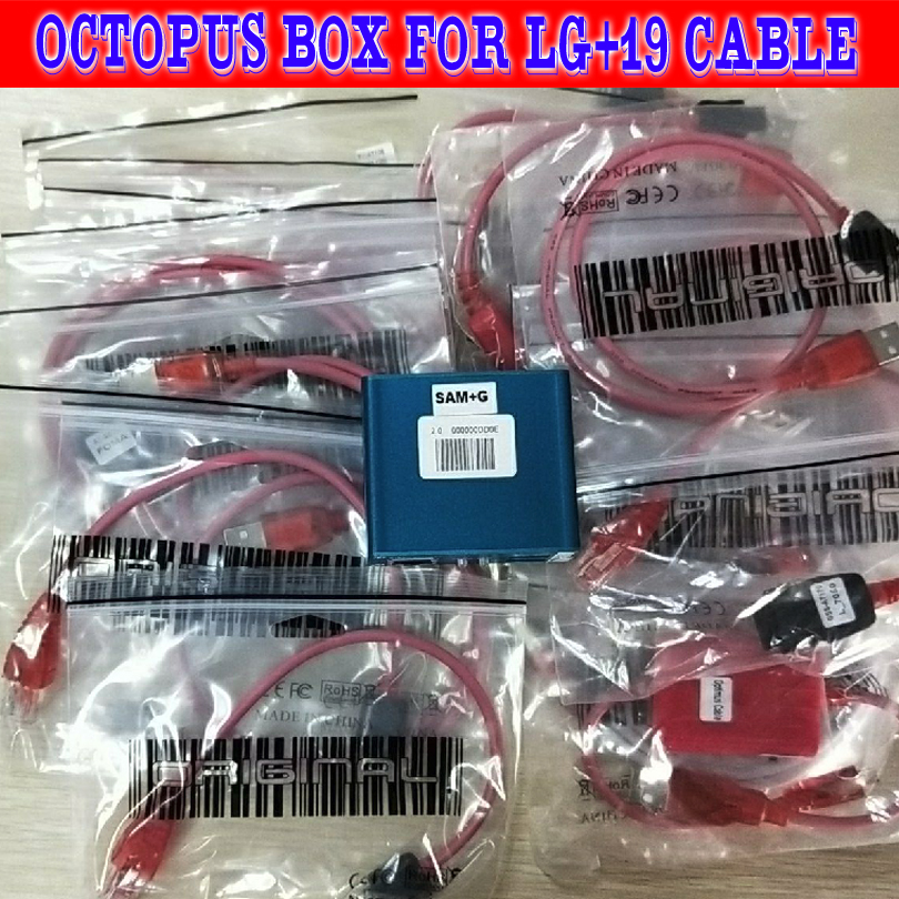 Gsmjustoncct  100% Original Octopus Box/octoplus Pro Box For LG Unlock &Repair Flash Tool Mobile Phone(package With 20 Cables)