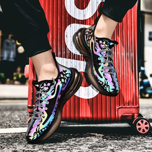 Men Fashion Luminous Sneakers Reflective Mesh Shoes Male Trend New Arrival Walking Footwear Comfortable Soft Sneakers Men Shoes