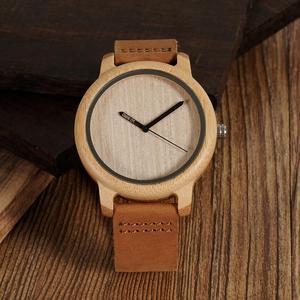 Image 2 - BOBO BIRD Wood Watch Men A22 Bamboo Male Simple Quartz Wristwatch 20mm Leather reloj para hombre