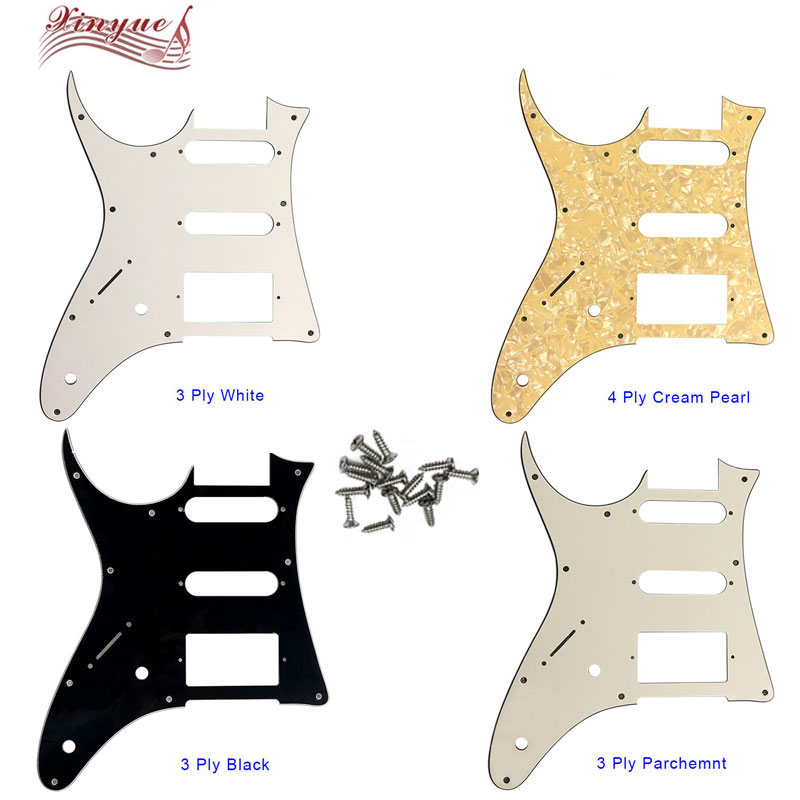 3 Ply H Right Hand Pickguard Guitar Plate Parts for Electric Guitar White