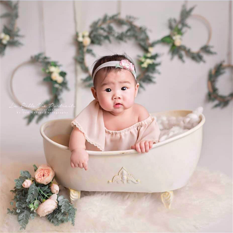 New Creative Newborn Photography Props Baby Bathtub Infant Basket Photo Photography Accessories