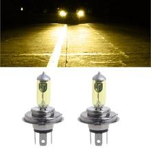 1 Pair Car Headlight H4 Lamp H/L Beams Car Halogen Bulb 90/100W Fog Light DC 12V