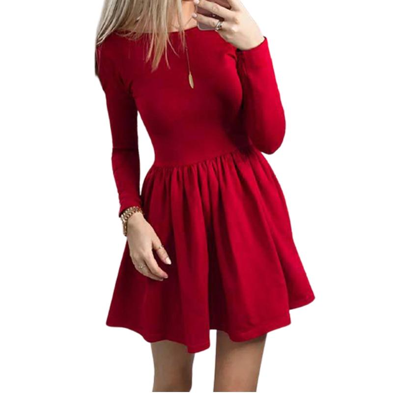 Robe Vintage Femme A Manches Longues Noir Rouge Mini Robe Vintage Ws5605r Automne Et Hiver 2018 Aliexpress