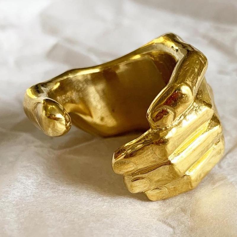 Новые винтажные резные кольца для рук, креативное открытое регулируемое кольцо для пальцев для женщин и мужчин, Модная бижутерия в подарок