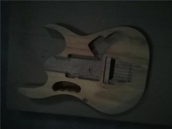 Afanti muzyka DIY gitara zestaw DIY gitara elektryczna ciała (MW-3-574) tanie i dobre opinie none not sure Nauka w domu Do profesjonalnych wykonań Beginner Unisex CN (pochodzenie) Drewno z Brazylii Electric guitar
