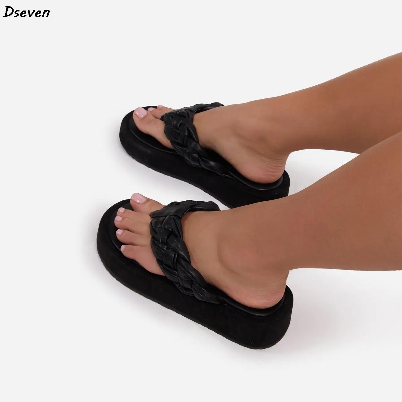 sandálias das mulheres verão flip flops plataforma