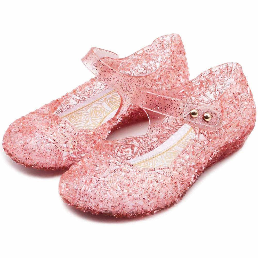 2019 New Fashion Baby Meisjes Kids Zomer Kristal Sandalen Prinses Peuter Leuke Fancy Kristal Hoge Hakken Schoenen #4