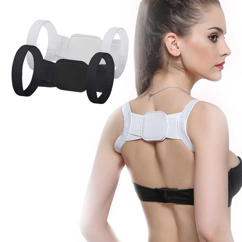 Corrector De Postura De espalda para niños y adultos, Corrector De Postura De espalda recta, cómodo cinturón De soporte De hombros con Velcro