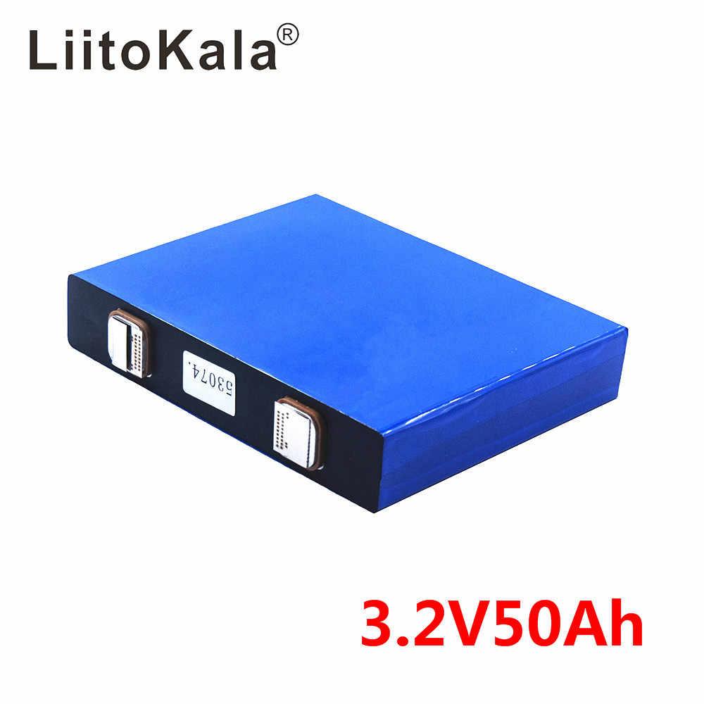LiitoKala 3.2 V 50Ah LifePo4 แบตเตอรี่ LITHIUM 150A 3C สูงท่อระบายน้ำสำหรับ DIY 12V 24V SOLAR INVERTER ไฟฟ้ารถโค้ชกอล์ฟ