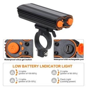 Image 4 - T SUN USB Sạc ĐÈN LED Xe Đạp Đèn Pha 2400 Lumens Xe Đạp Chống Thấm Nước Trước Ánh Sáng Đèn Pin 4 Chế Độ Chiếu Sáng ĐÈN LED Gắn Xe Đạp