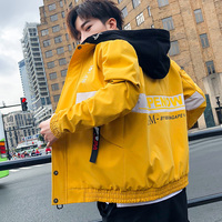 2019 Autumn Jacket Loose Coat Men's Wear Clothing Trend Handsome Leisure Time Work Clothes Male windbreaker hip hop Japan Style