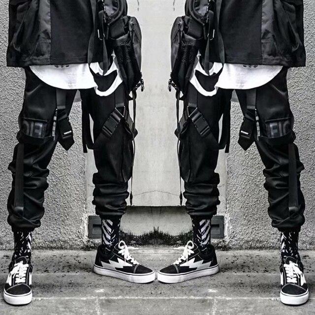 Calça casual dos homens carga calça hip hop corredores streetwear moda sweatpant sportwear pantalon homme 2020 calças 1