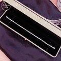 Aazuo au750 real 18k ouro branco natrual diamantes 3.0ct moda pulseiras para mulher de luxo na moda festa de noivado casamento