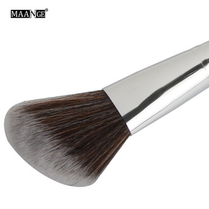 Image 4 - MAANGE 1 pièces Oblique tête pinceau de maquillage visage joue Blush Contour cosmétique poudre fond de teint Blush brosse angle maquillage outils Kit