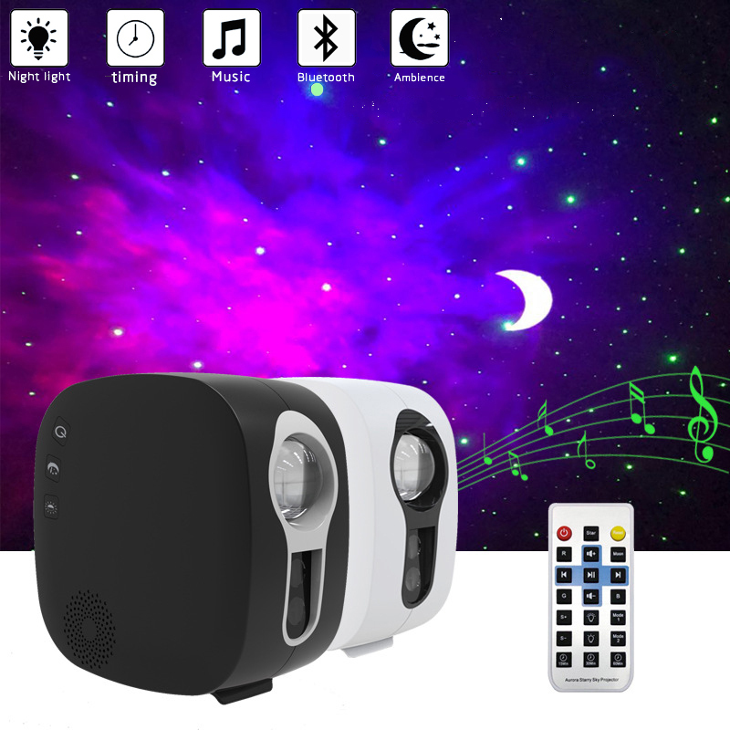 Galaxy Star Light Projector LED Night Light with Ocean Wave Effect Built-in Bluetooth Speaker Nebula Cloud Lamp for Kids Gift