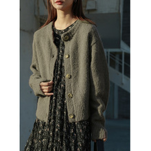 67 Alpaca+27 Wool Women's Knitted Cardigans Warm S
