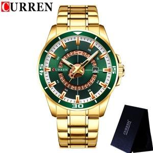 Image 4 - CURREN Sport Men Watch Top Brand Luxury Gold Military Business Waterproof Male Clock Stainless Steel Quartz Man Wristwatch 8359