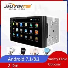 JIUYIN Universal 2 Din Android 8 Radio Autoradio Stereo Multimedia Audio Player HD TDA7851 Bluetooth WIFI GPS Auto Touch Screen