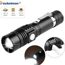 6200 lm super jasne led latarka usb linterna latarka led T6/L2/V6 Power porady Zoomable rowerów światła 18650 akumulator