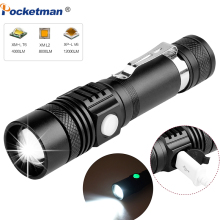 6200LM Super Bright Led flashlight USB linterna led