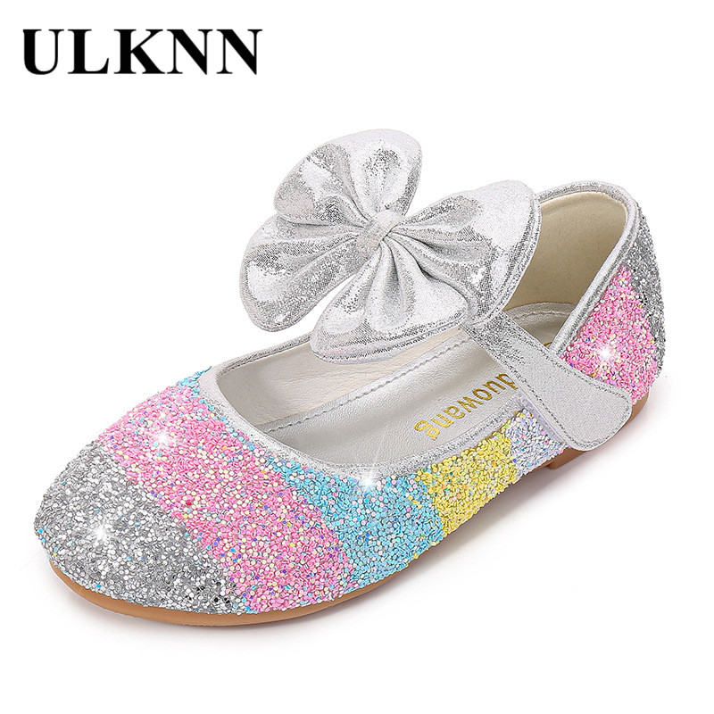 Girls Princess Shoes 2020 CHILDREN'S Shoes Fashion Western Style Leather Shoes Soft Bottom Shallow Mouth Crystal Moccosins SHOES