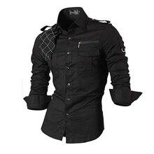 Jeansian גברים של שמלה מזדמן חולצות אופנה Desinger אופנתי ארוך שרוול Slim Fit 8371 Black2